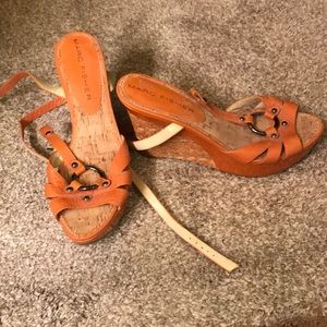 Marc Fisher slightly used wedge sandals